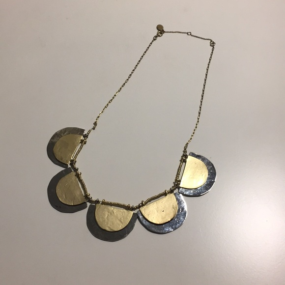LOFT Jewelry - The Loft Silver and Gold Scallop Necklace